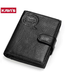 KAVIS Black Leather Wallet