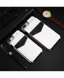 KISSCASE White Vertical Flip Card Holder Leather Case