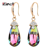 Kinel Hot Fashion Colorful Drop Crystal Luxury Earrings