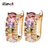 Kinel Luxury Ear Cuff 6 pcs Zircon stone Bright Flower Studded Earings