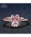 LAMOON Silver Rose Gold Wedding Ring AT-378
