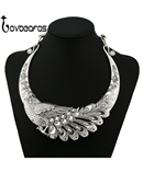 LOVBEAFAS Bohemian Choker Peacock Necklace