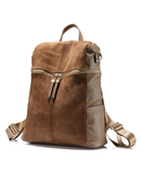 LOVEVOOK Brown PU Leather Ladies Backpack