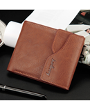 Light Coffee Billfold Card Holder Pocket PU Leather Wallet