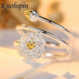 Lotus Flower Creative Spiral Ring