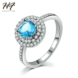 Luxury Chiffon Color CZ Crystal Jewelry Austrian Crystal Ring