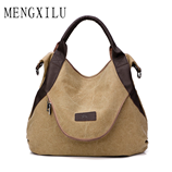 MENGXILU Canvas Famous Brand Casual Messenger Bag