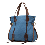 MENGXILU Casual Canvas Ladies Shoulder Bags