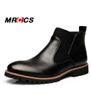 MRCCS Black Fashion Chelsea Leather Boots