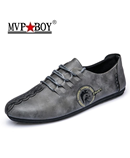 MVP Gray Split Leather Shoes Shoes