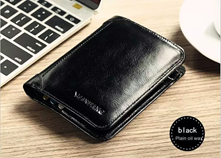 ManBang Black Leather Wallet