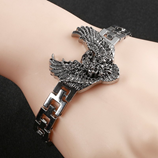 Mens American Punk Style Eagle Inlay Bracelet