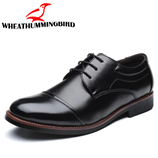 Mens Leather Business Fingertip Oxford Shoes