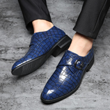 Merkmak Handmade Royal Blue Oxford Leather Shoes