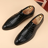 Merkmak High Quality Black Leather Bussines Shoes