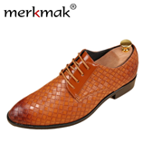 Merkmak High Quality Brown Leather Bussines Shoes