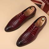 Merkmak High Quality Red Wine Leather Bussines Shoes