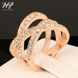Micro Pave CZ Crystal Rock Vintage Finger Ring