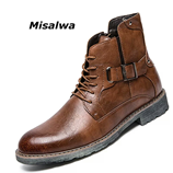 Misalwa Mens Retro Ankle Boots
