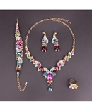Multi Colors Crystals Jewelry Set