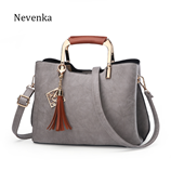 Nevenka Luxury Design Brand Tassel Sequins Messenger Leather Bag