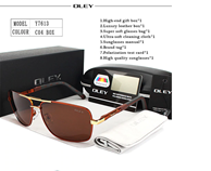 OLEY Brand Polarized Brown Sunglasses With Accessories