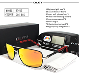 OLEY Brand Polarized CO5 Sunglasses With Accessories