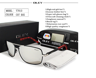 OLEY Brand Polarized CO7 Sunglasses With Accessories