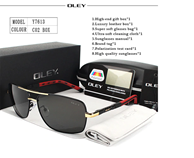 OLEY Brand Polarized Sunglasses With Accessories