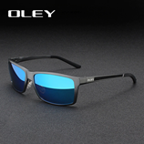 OLEY Vintage Brand Mens Square Polarized Sunglasses