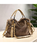 OTHERCHIC Leather Fur Designer Handbag