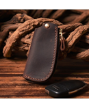 Pillow Shape Leather Car key Holder