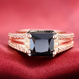 Pink Gold Crown Prince AAA + Cubic Zirconia Ring