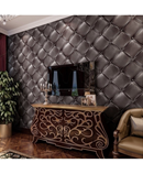Purple European Style 3D Leather Textured Wallpaper