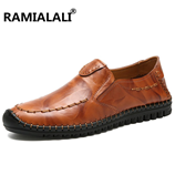 Ramialali Genuine Leather Moccasins Boat Business Men Shoes
