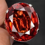 Red Zircon Womens Fashion Ring