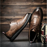 Retro Bullock Design Classic Men Business Formal Shoes