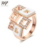 Romantic Cubic Zirconia Pink Chess Color Gold Fashion Ring