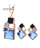 Square Geometry Jewelry Set