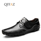 Times New Roman Black Soft Leather Loafers