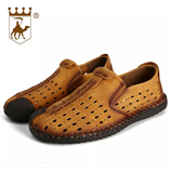 Times New Roman Camel Brown Loafers AT-4781