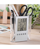 Transparent ABS multi-functions Digital Desk Pen Clock