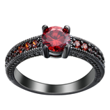 UFOORO New Red Created zircon high quality ring