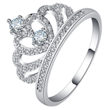 UFOORO Trendy Princess Charm Shining Crown Wedding Ring