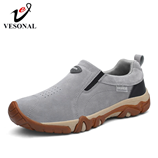 VESONAL Genuine leather comfortable Slip-On Shoes