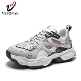 VESONAL Grey Thick sole Classic Sneakers