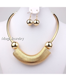 VIVILADY Golden Chokers Jewelry Set