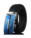 Vacacouro Blue Buckle Designer Leather Belt