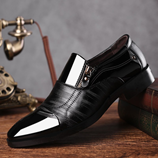 Vieruodis Black Soft Leather Oxford Business Shoes
