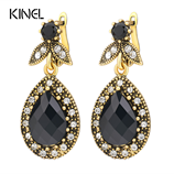 Vintage Fashion Jewelry Crystal Water Drop Earrings